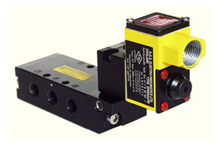 Photo of an RGS intrinsically safe solenoid valve for pneumatic control systems